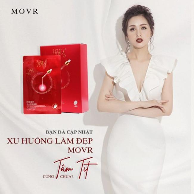Hot Girl Tâm Tít cũng rất yêu thích sản phẩm mặt nạ MOVR.