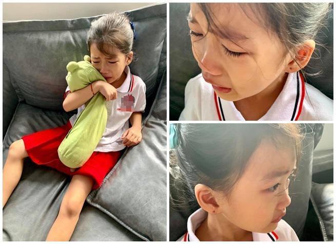 Con gái Ốc Thanh Vân nhõng nhẽo không chịu đi học.