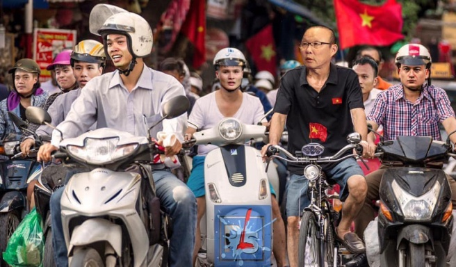 """Công Phượng, Quang Hải, Văn Lâm sẵn sàng """"đi bão""""."""