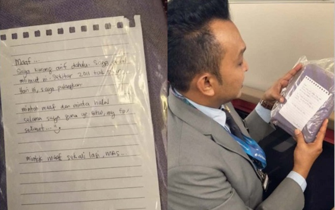 Chiếc chăn máy bay được một vị hành khách trả lại sau khi mang về nhà 9 năm.