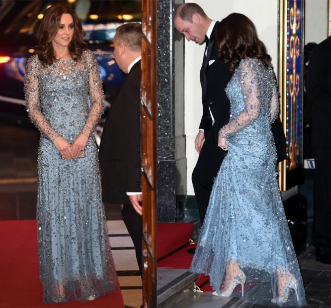 Dù chọn kiểu váy xuyên thấu nhưng các thiết kế nàng dâu Hoàng Gia Anh chọn vô cùng tinh tế và không bị phô phang