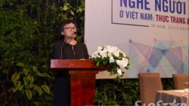 Bà Nguyễn Thế Thanh- Phó chủ tịch Hội Người mẫu Việt Nam.