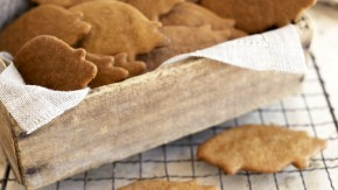 Những chiếc bánh cookie hình lợn được tin rằng sẽ mang tới sự tiến bộ cho con người.