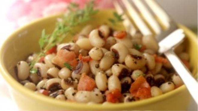 """Món đậu trắng có tiếng """"may mắn"""" trong khu vực miền Nam nước Mỹ."""