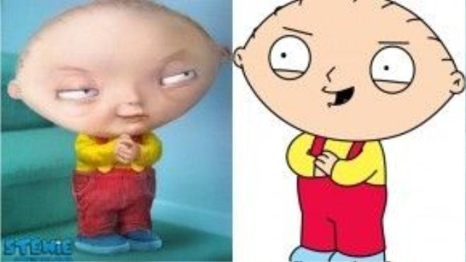 Cậu con trai Stewie Griffin của ông trông cũng thật gớm ghiếc với cái đầu giống như quả bóng bầu dục và đôi mắt nham hiểm.