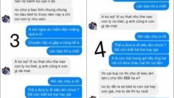 """Nội dung tin nhắn Mạc Hồng Quân nói rằng chỉ coi Ly Kute như """"ô sin""""."""