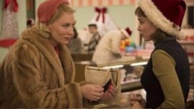 Phim đồng tính Carol ra về trắng tay khi được đề cử đến bốn hạng mục.