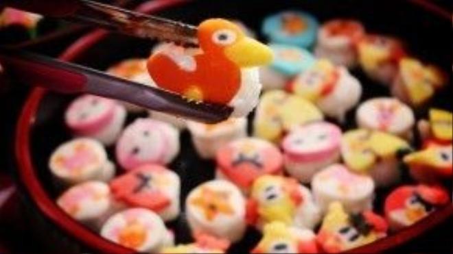 Sushi đa sắc màu từ Nhật Bản.