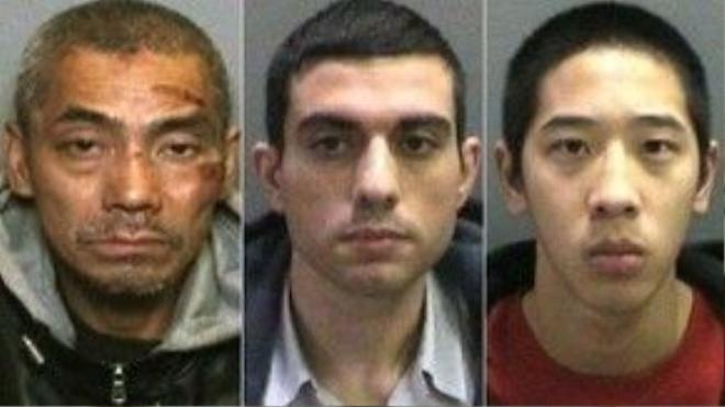 (Từ trái sang) Ba tù nhân vượt ngục Bac Duong, Hossein Nayeri và Jonathan Tieu. Ảnh: AP