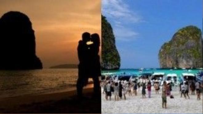 Thái Lan: Những bãi biển Thái Lan chưa bao giờ vắng vẻ như hình ảnh thơ mộng du khách luôn say sưa nhìn ngắm.
