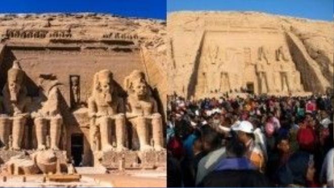 Đền thờ cổ Abu Simbel, Giza, Ai Cập: Ngôi đền cổ thờ vị pharaon vĩ đại Abu Simbel cũng không nằm ngoài danh sách.