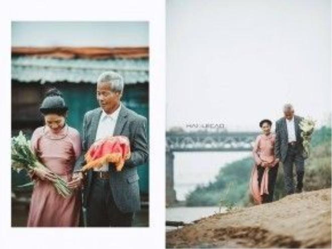 Đám cưới giản dị được tổ chức, thỏa ước nguyện của hai ông bà.