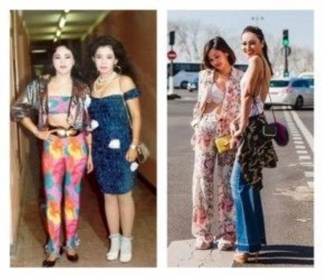 Crop top, Jacket, túi xách mini đeo chéo và cả suit màu mè cũng là những item thời trang đặc sắc của phụ nữ Sài Gòn cách đây vài thập niên.
