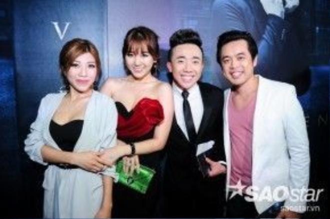 Nhạc sĩ Dương Khắc Linh đưa bạn gái Trang Pháp đến sự kiện.