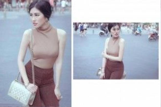 Emily Hồng Nhung nhẹ nhàng với tông nude, gợi ý dành cho các nàng vẫn trung thành với gu thanh lịch.
