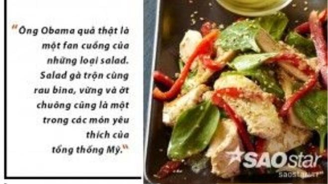 """Salad gà đem lại một bữa ăn đầy đủ các chất đạm, xơ, vitamin… Đặc biệt, rau bina có trong món salad này được xem như một """"thần dược"""" khi chứa nhiều chất tốt cho hệ thống tiêu hóa, thị lực và chống viêm… Rau bina cũng rất tốt cho việc hấp thụ canxi. Là loại rau ưa mát, tại Việt Nam rau bina được trồng nhiều ở Đà Lạt."""