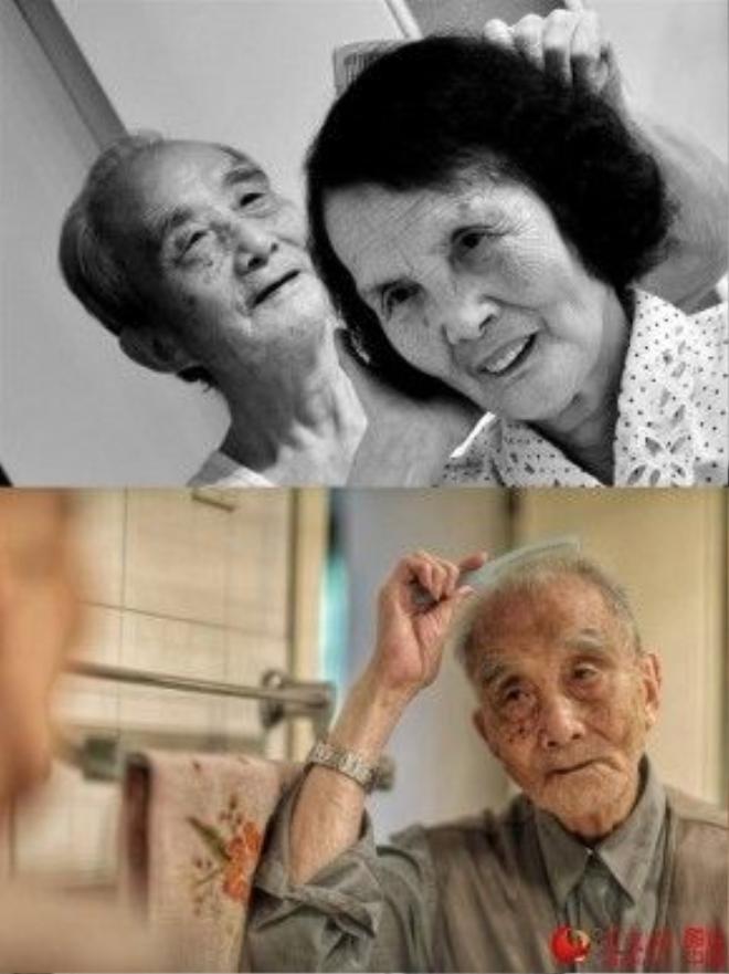 Ảnh đen trắng được ẩn dụ cho quá khứ vài năm trước, khi cụ bà còn sống và được ông chăm sóc hàng ngày, trong khi ảnh màu là những khoảnh khắc thường nhật của cụ ông khi bà không còn nữa.