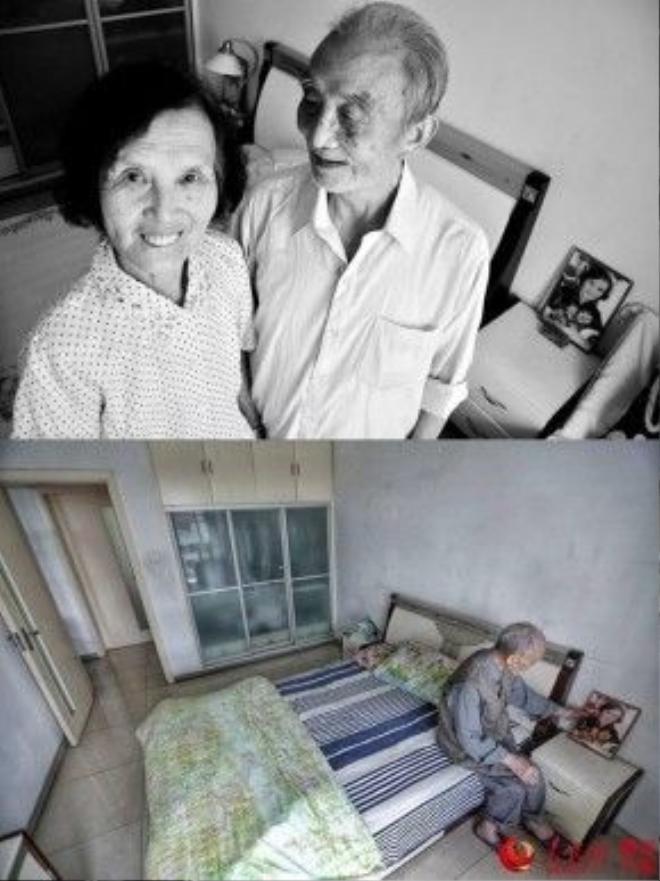 Trong căn hộ chung cư giản dị, thật xúc động bởi những hình ảnh thường nhật của hai cụ khi còn bên nhau