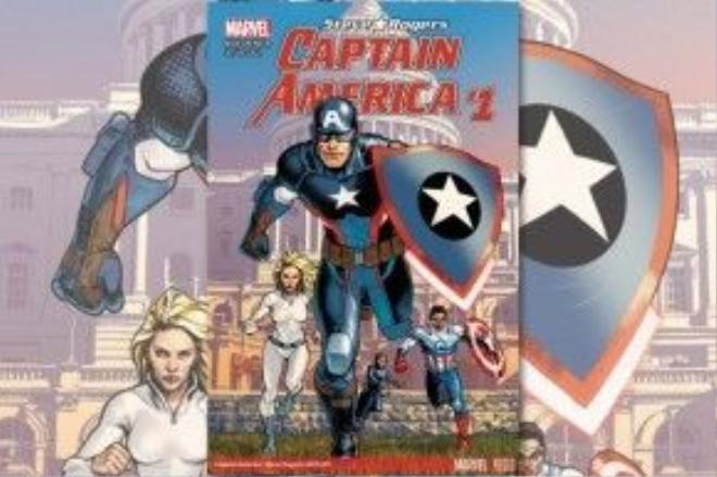 Bìa ấn bản mới nhất Captain America: Steve Rogers #1.