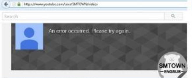 """Kênh Youtube của SM bị """"đóng băng"""" ngay sau khi teaser ra mắt."""