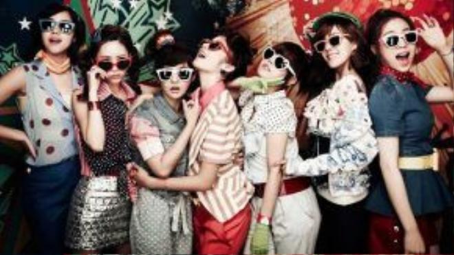 Tạo hình của T-ara và chất nhạc trong Roly Poly đều theo phong cách retro.