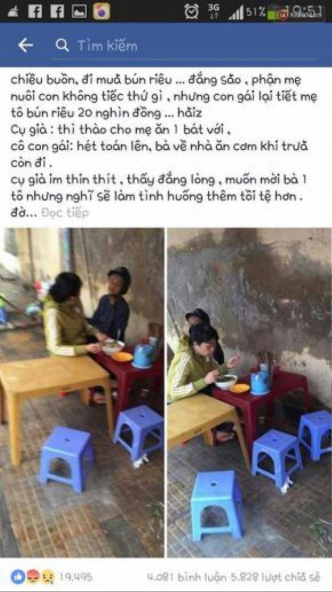 Câu chuyện về người con bất hiếu mà nam thanh niên M.Lê chia sẻ đã được gần 6.000 lượt share trên facebook.