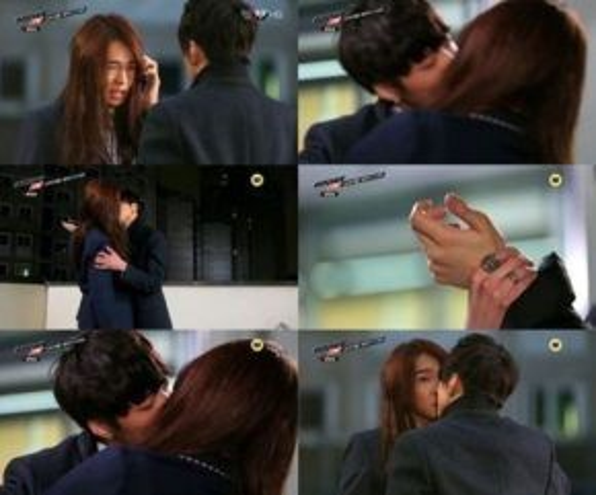 Eun Sang bị trai đẹp Kim Tan cưỡng hôn .
