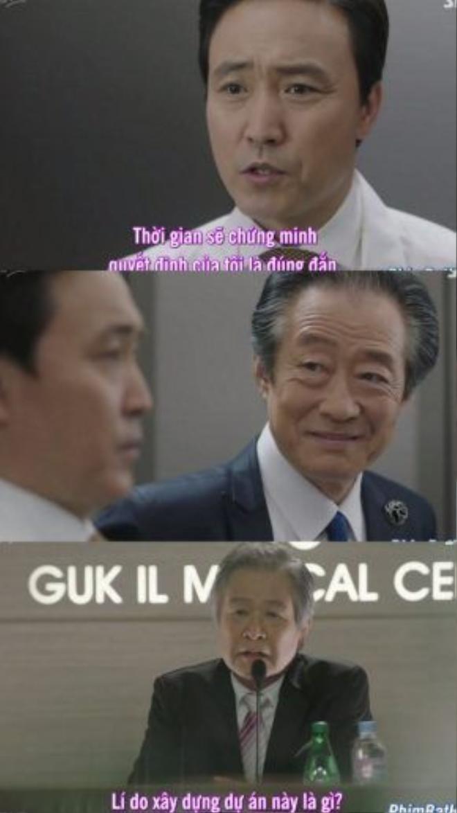 Giám đốc bệnh viện, bố của Ji Woo với đám bè cánh những giấc mộng quyền lực của ông ta. Trong khi đó, vị chủ tịch hội đồng quản trị lại chính là…