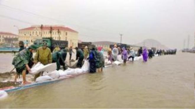 Mưa lớn đã khiến huyện Hải Hà, Quảng Ninh bị ngập sâu.