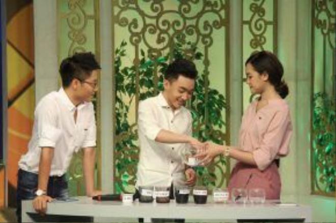 Trong một thử thách của chương trình, Trung Quang đã nhanh chóng vượt qua với sự thông minh và nhanh trí của mình.