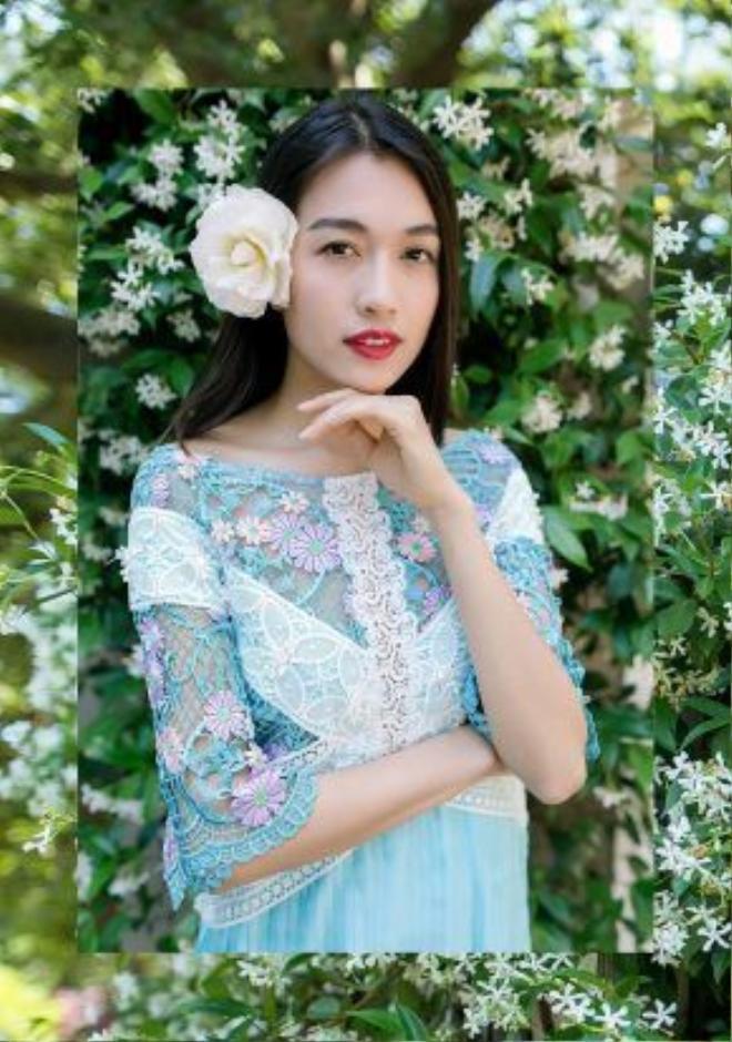 Á hậu Lệ Hằng với vẻ ngoài xinh đẹp tại đất nước Hoa Kỳ.