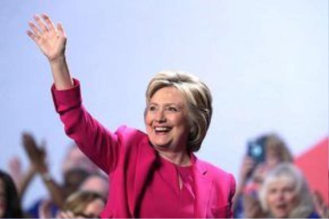 Bà Clinton sắp có bài phát biểu lịch sử tại Đại hội toàn quốc đảng Dân chủ. Ảnh: Getty
