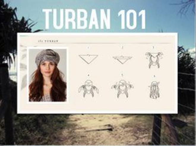 6 bước hoàn chỉnh để bạn có thể sở hữu chiếc khăn turban đội đầu.
