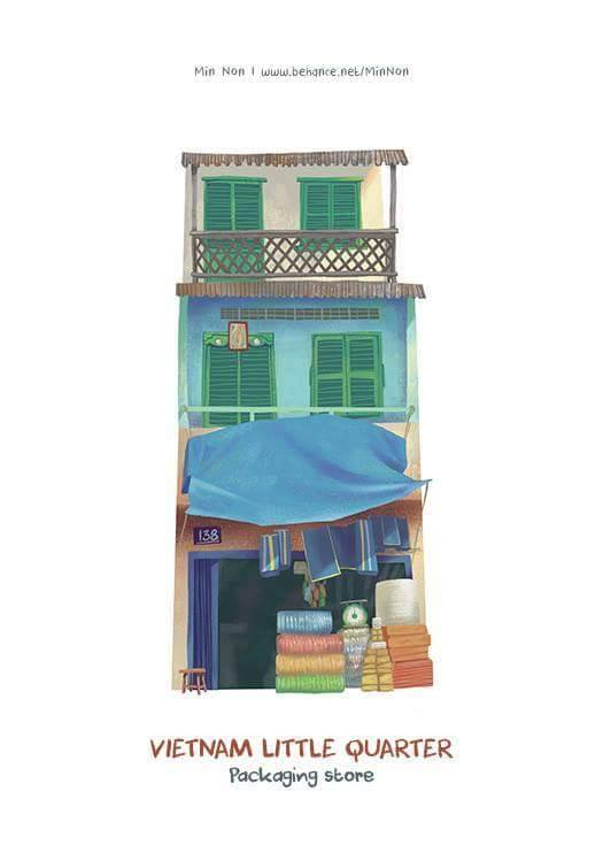 Những ngôi nhà dáng dấp Việt Nam, tuy đơn giản nhưng cũng đẹp không kém những căn nhà ở các nướckhác.