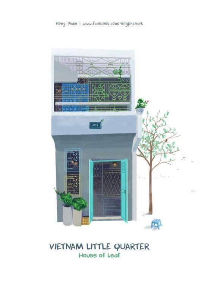 Vẻ đẹp đơn giản là căn nhà cuối phố với những ô cửa.