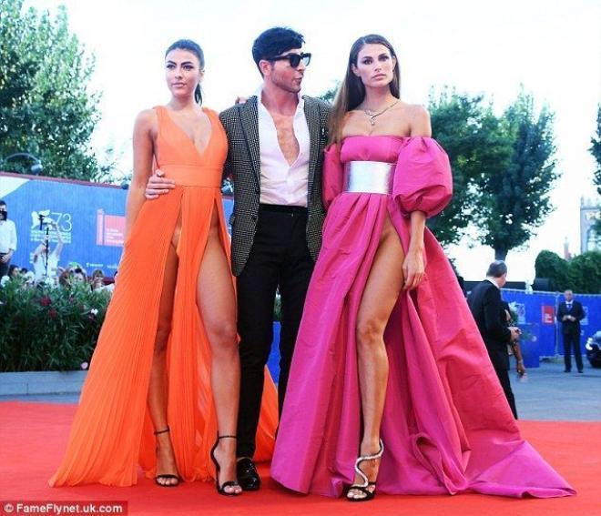Giulia Salemi và Dayane Mello gây sốc với trang phục táo bạo trên thảm đỏ LHP Venice