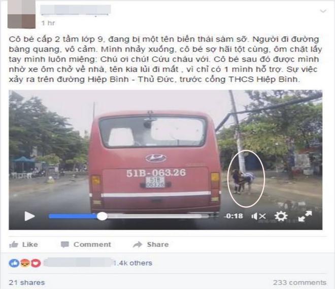 Đoạn clip kèm theo chia sẻ của tài xế.