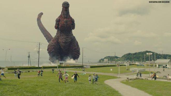 Quái vật Godzilla xuất hiện giữa lòng Nhật Bản.