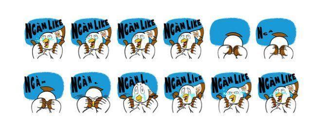 Chú chim Lạc được Facebook lựa chọn trở thành nhân vật chính của bộ sticker.