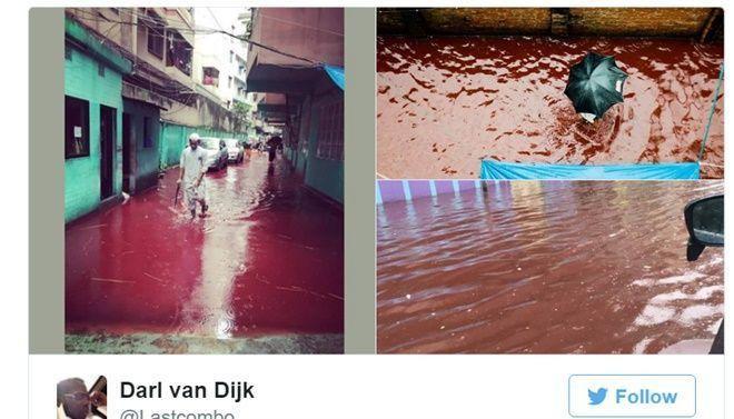 Các hình ảnh máu me tràn ngập các facebook.