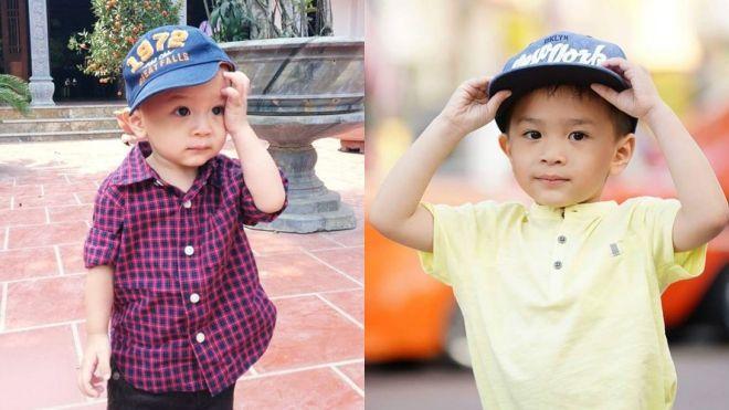 So với ngày bé khá giống bố Ngô Kiến Huy thì càng lớn, Jacky đã thay đổi và mang nhiều nét giống đằng ngoại hơn.
