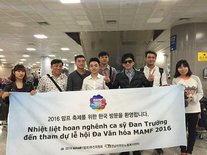 Đan Trường và Trung Quang tới Hàn Quốc.