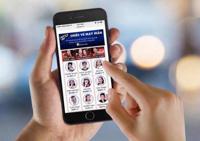 Ngoài ra, bạn cũng có thể bình chọn ngay trên điện thoại di động. Truy cập http://saostar.vn/ và kéo xuống cuối trang, bảng bình chọn sẽ hiển thị và bạn có thể bình chọn cho thí sinh mình muốn trở lại đêm Chung kết GIọng hát Việt nhí 2016.