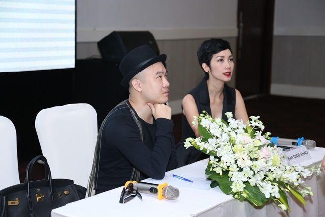 Siêu mẫu Xuân Lan đồng hành cùng Đỗ Mạnh Cường trong buổi casting này.