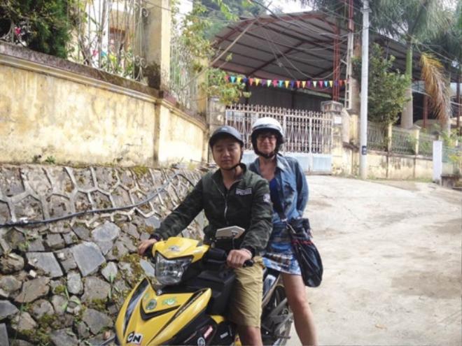 Một trong những phương tiện thường được Odette lựa chọn là xe máy.