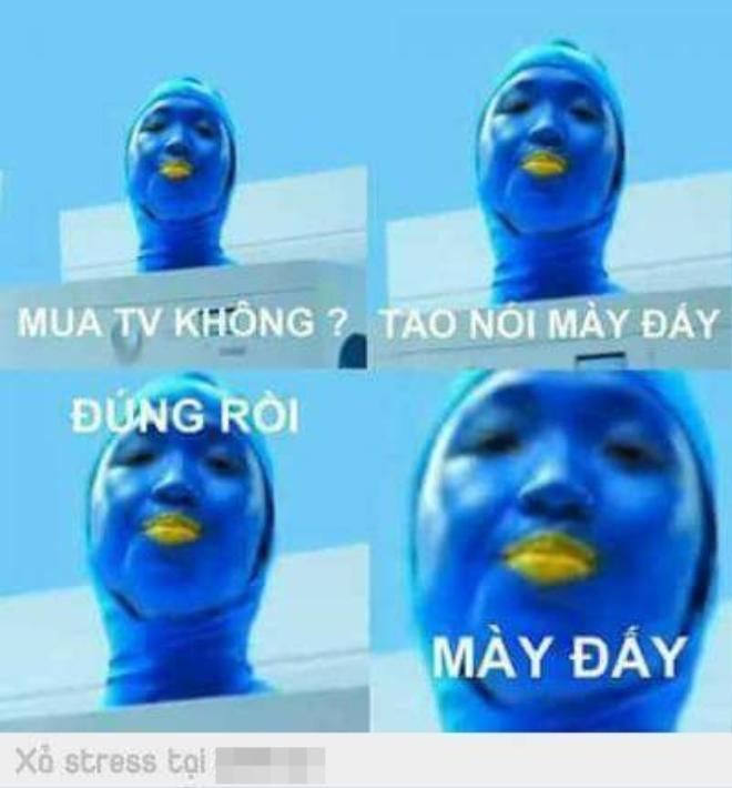 Màu xanh của clip quảng cáo khiến nhiều người phát hoảng.