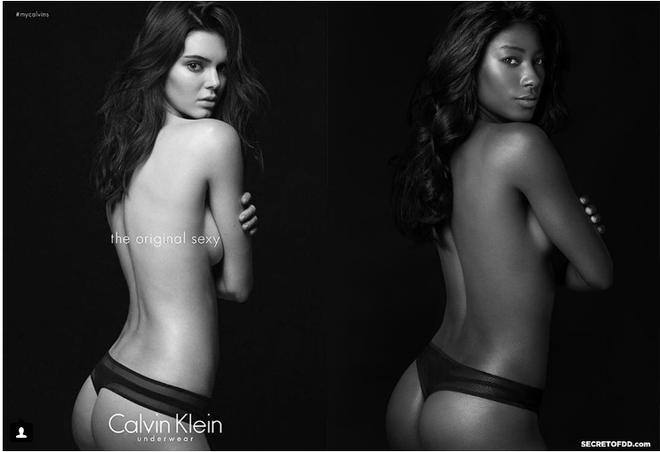 Cô nàng hóa thân thành Kendall Jenner trong bộ ảnh Black Mirror của mình.