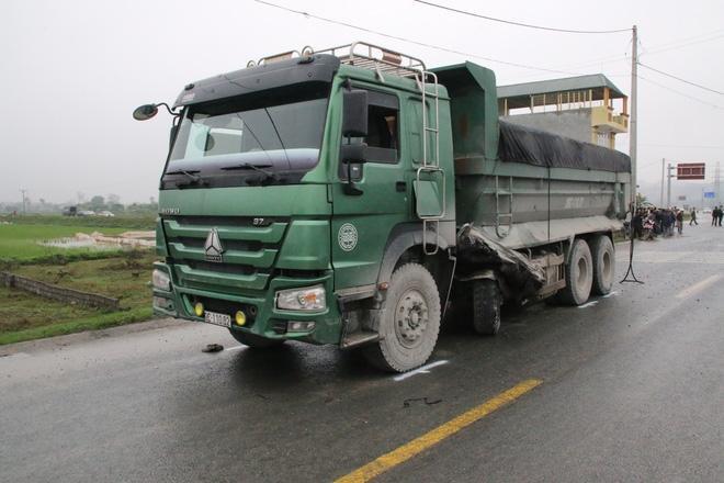 Chiếc xe tải liên quan đến vụ tai nạn.