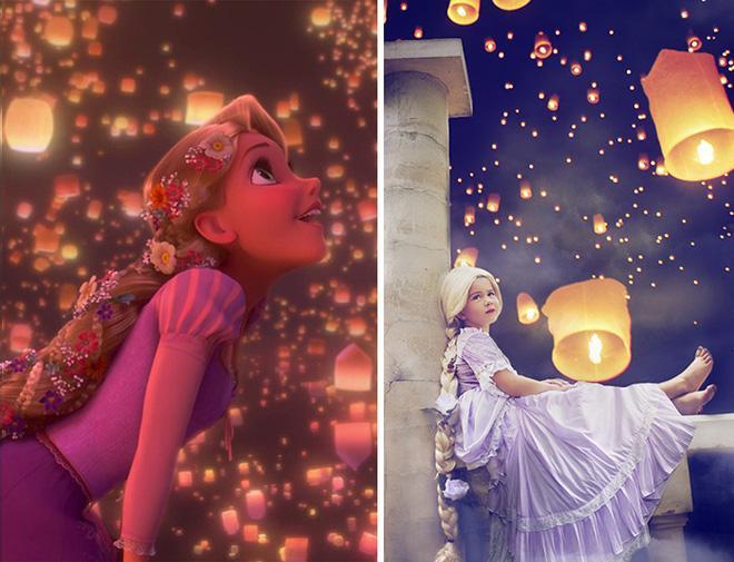 Chất Disney được truyền tải vào trong các bức ảnh được thực hiện rất hoàn hảo – đúng như ý tưởng ban đầu của cô.