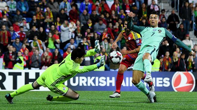 Ronaldo trong tình huống mở tỷ số.